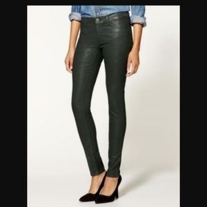 J. Brand Green Coated Skinny Jeans